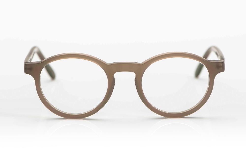 Kitschenberg Acetat – matte taubefarbige massive Panto Brille aus Acetat – KITSCHENBERG Brillen