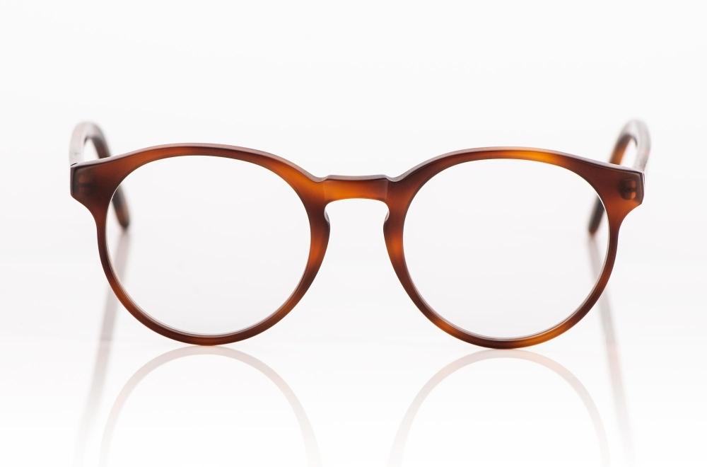 Kitschenberg Acetat – rotbraune Panto Acetat Brille, handgemacht in Deutschland - KITSCHENBERG Brillen