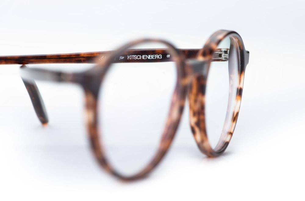 Kitschenberg Acetat – dünnrandige Panto Brille in rotbrauner Farbe mit seidenmatter Oberfläche – KITSCHENBERG Brillen