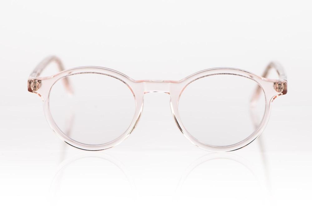 Kitschenberg Acetat – rosa transparente Acetat Panto Fassung – KITSCHENBERG Brillen