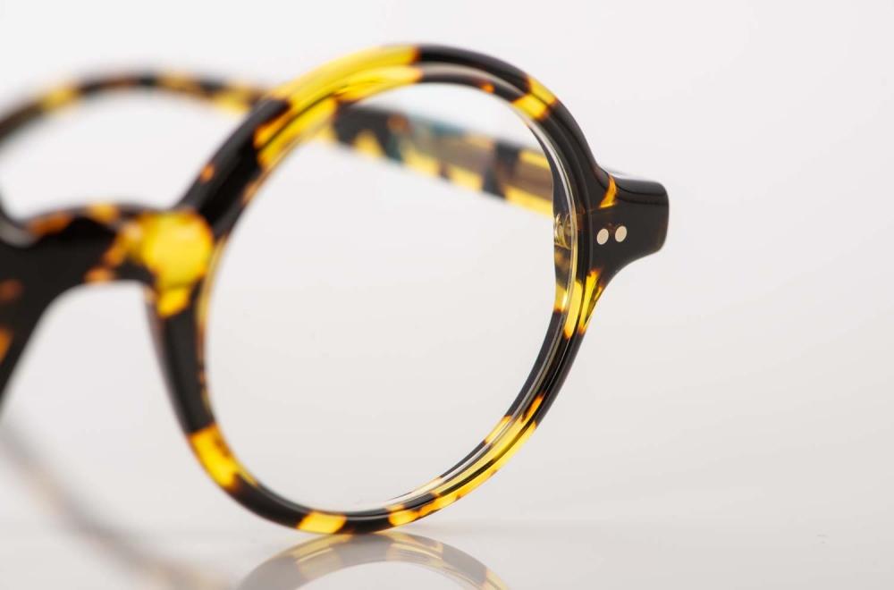 Alf – runde gesprenkelte Acetat Brille - KITSCHENBERG Brillen
