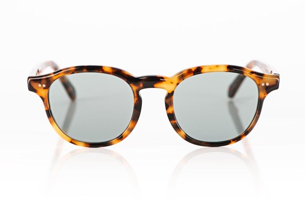 Alf – Sonnenbrille – schildpatt farbige Acetatbrille mit grauen Gläsern - KITSCHENBERG Brillen