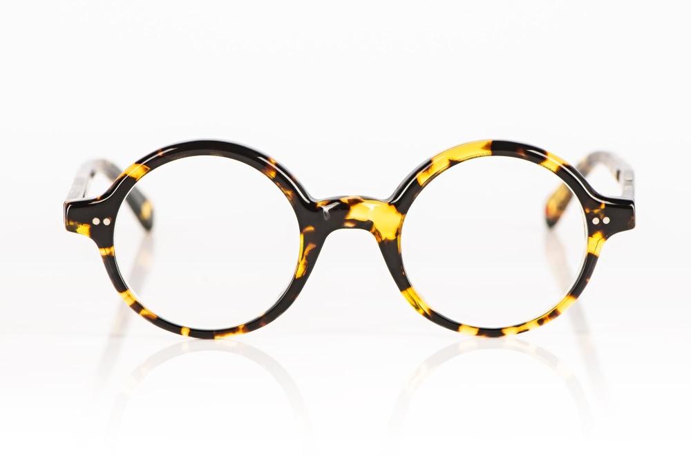 Alf – runde tortoise farbige Acetatbrille handgemacht in Frankreich - KITSCHENBERG Brillen
