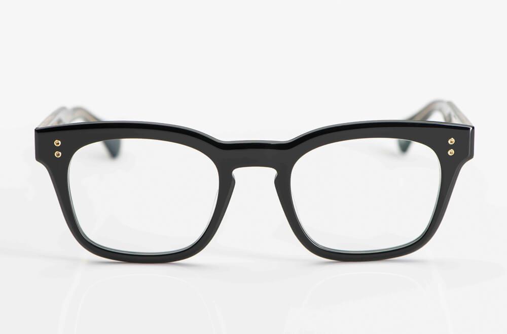 Dita – dickrandige eckige schwarze Acetat Brille - KITSCHENBERG Brillen