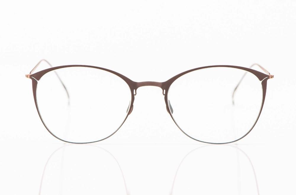 Haffmans & Neumeister – matt braune Flachmetall Brille – KITSCHENBERG Brillen