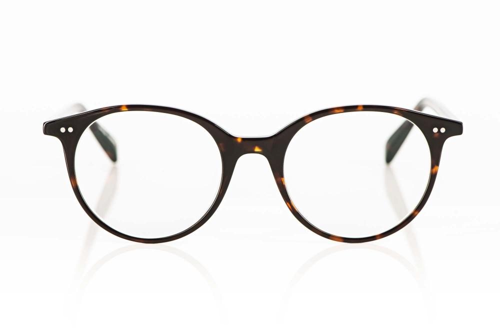 Hamburg Eyewear – dunkle havanna farbige Acetat Brille mit genieteten Gelenken – KITSCHENBERG Brillen