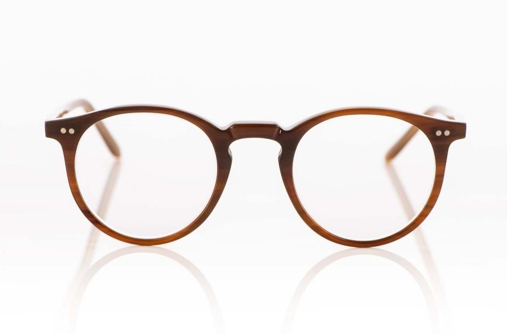 Kitschenberg Horn –Büffelhorn Panto Brille in rotbrauner Färbung mit genieteten Gelenken– KITSCHENBERG Brillen