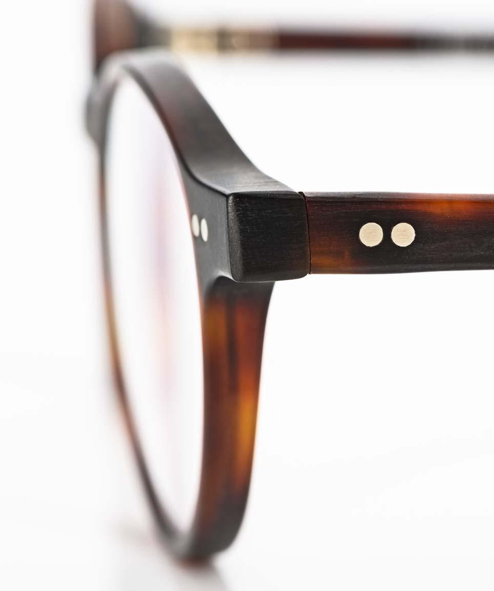 Kitschenberg Acetat – matt braune Pantobrille mit handgenieteten Gelenken hergestellt in Deutschland - KITSCHENBERG Brillen
