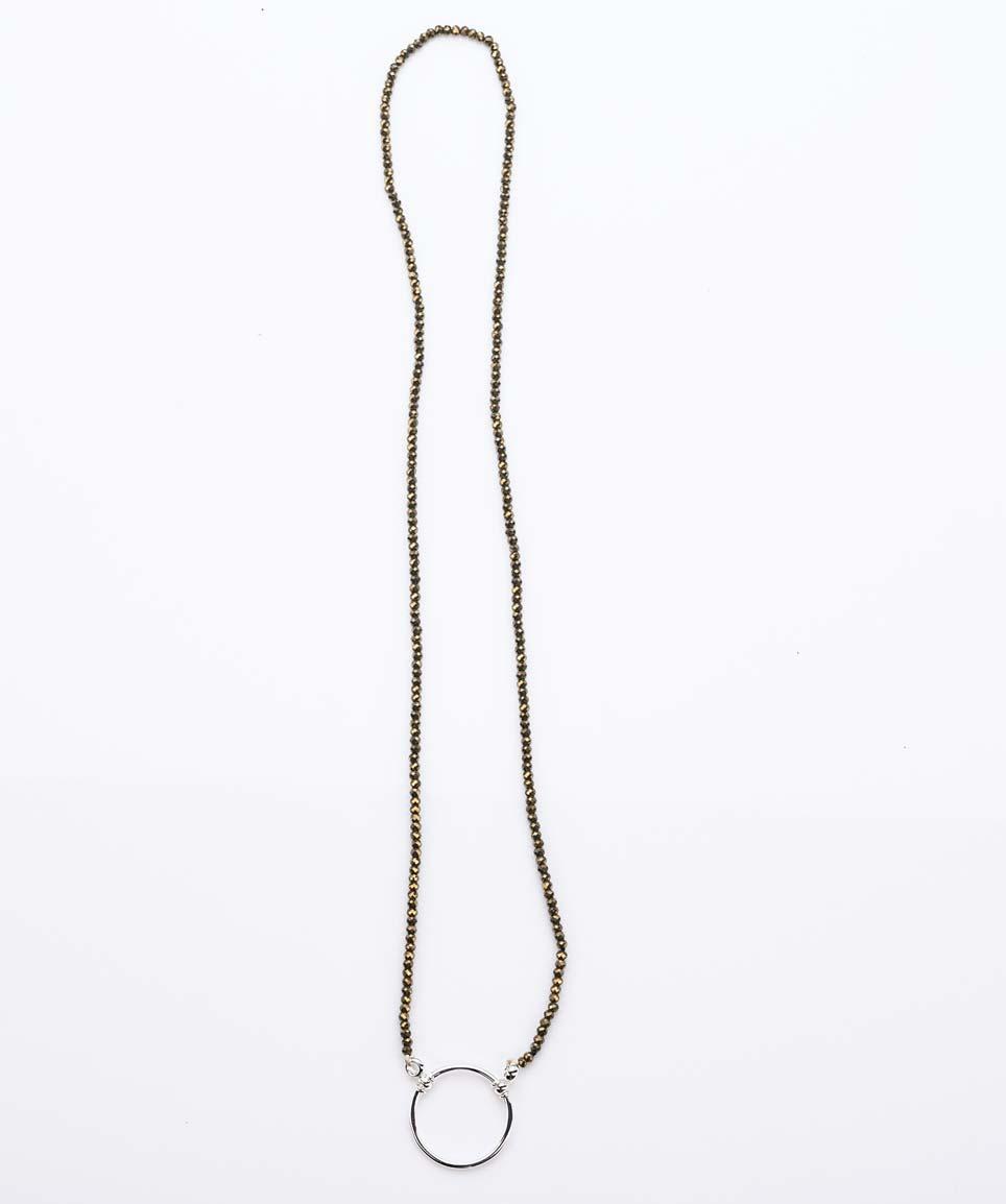 La Loop – Kette aus Pyrit mit silbernem Ring - Brillenkette – KITSCHENBERG Brillen