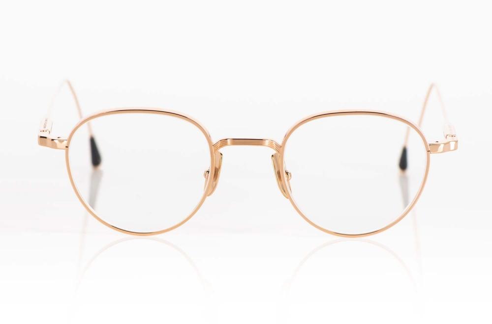 Lunetterie Generale – runde goldene Titan Panto Brille – KITSCHENBERG Brillen