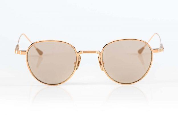 Lunetterie Générale – goldene Sonnenbrille aus Metall mit gold verspiegelten Gläsern von einem exklusiven kanadischen Label - KITSCHENBERG Brillen