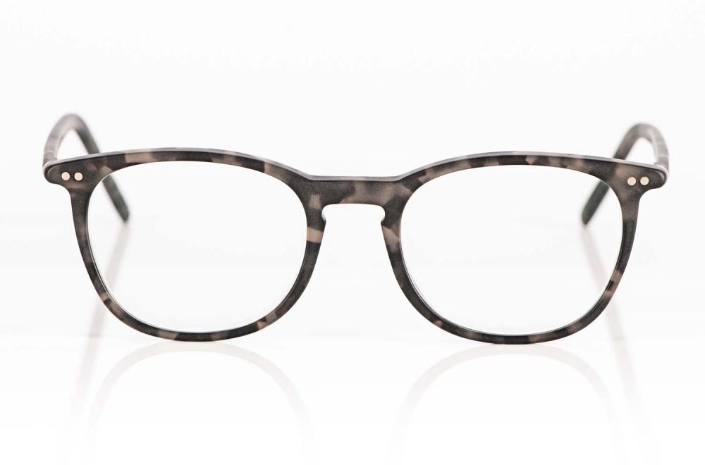 Lunor – grau gesprenkelte Acetat Brille mit genieteten Scharnieren hergestellt in Deutschland - KITSCHENBERG Brillen