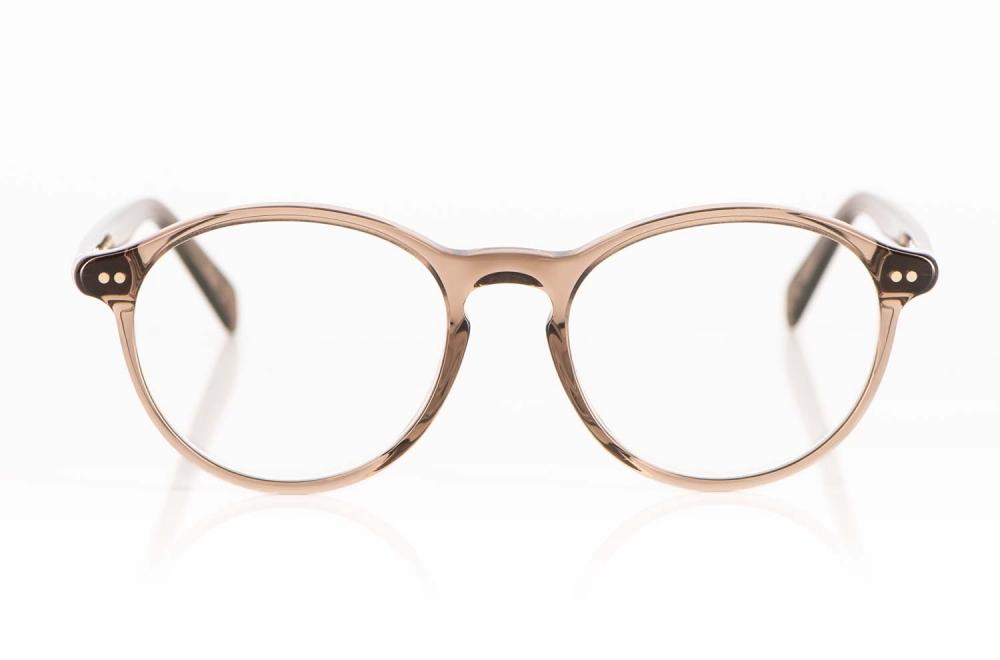 Lunor – braun transparente Runde Fassung mit Nietgelenken - KITSCHENBERG Brillen