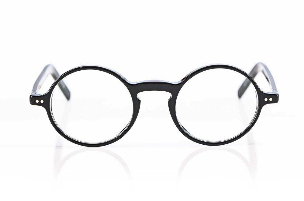 Lunor – runde havanna farbige Kunststoffbrille mit genieteten Gelenken - KITSCHENBERG Brillen