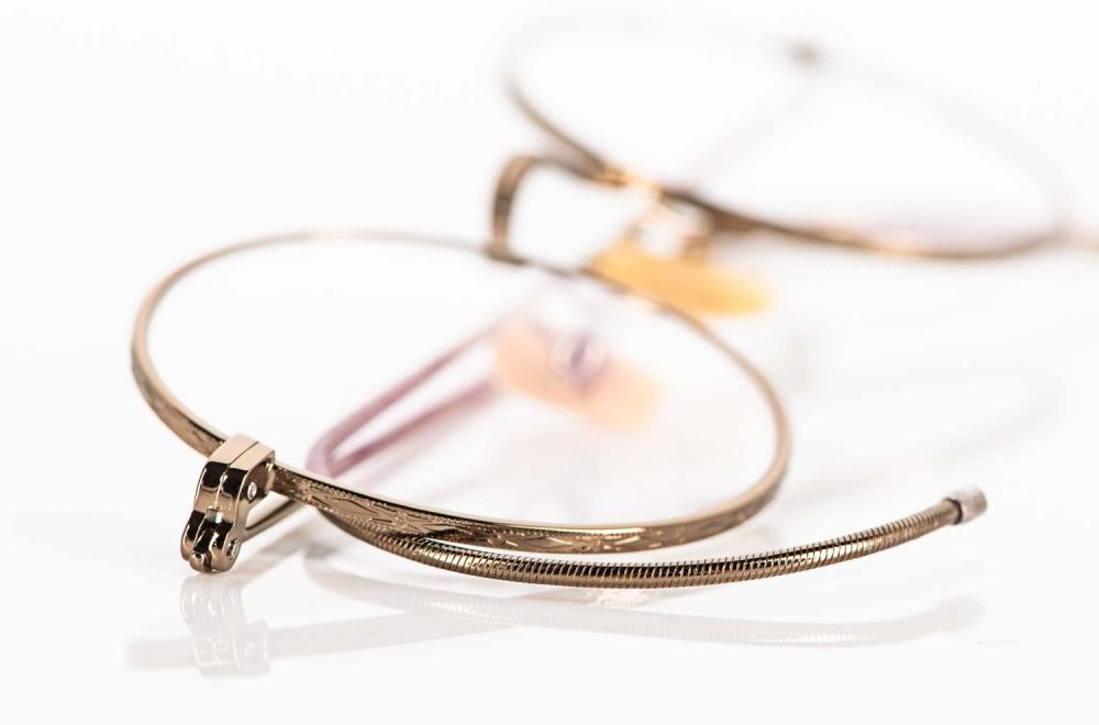 Moscot – Kreisrunde ziselierte Metall Brille mit Gespinstbügeln - KITSCHENBERG Brillen