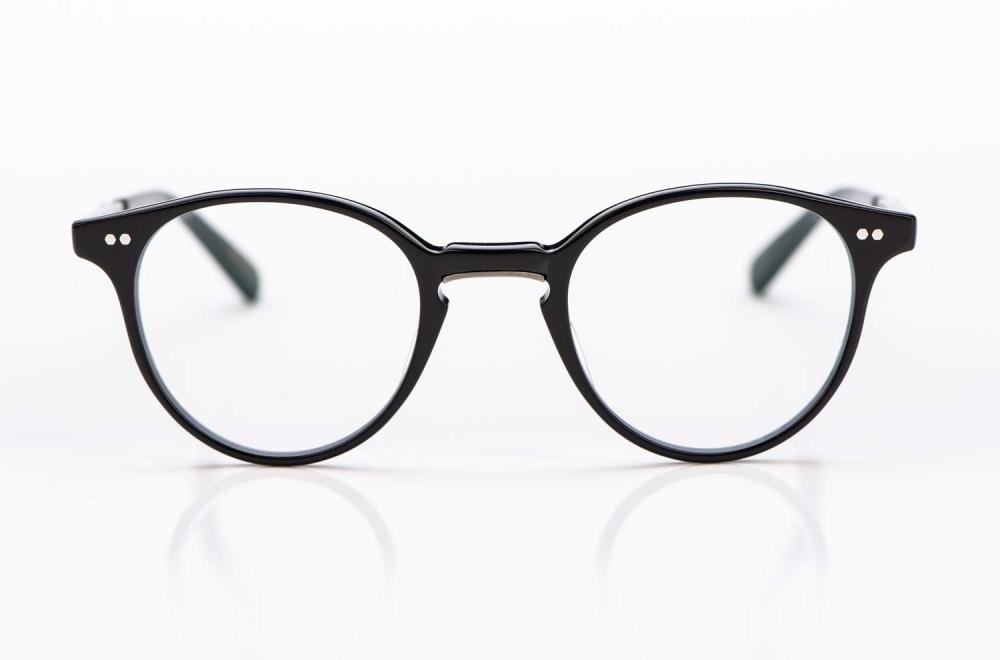 Mr. Leight – Acetat Panto Brille in schwarz mit genieteten Gelenken gefertigt in Japan - KITSCHENBERG Brillen