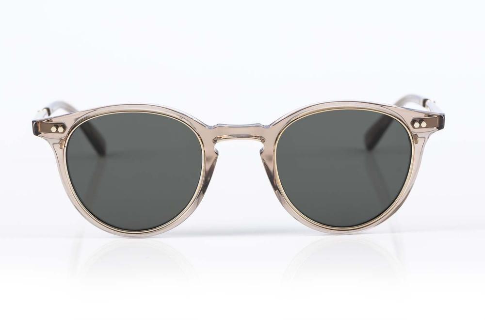Mr. Leight – Panto Sonnenbrille mit flachen Gläsern Metallrahmen und transparentem Acetat - KITSCHENBERG Brillen