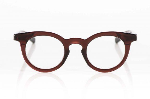 Oscar Magnuson – massive rotbraune Acetat Brille mit Schlüssellochsteg - KITSCHENBERG Brillen