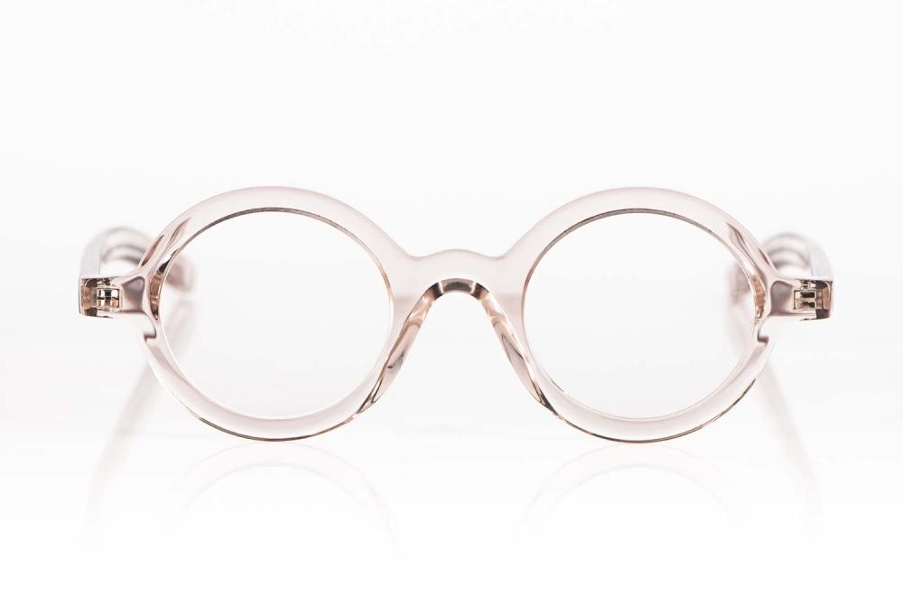 Oscar Magnuson – Runde massive rose transparente Kunststoff Brille - KITSCHENBERG Brillen