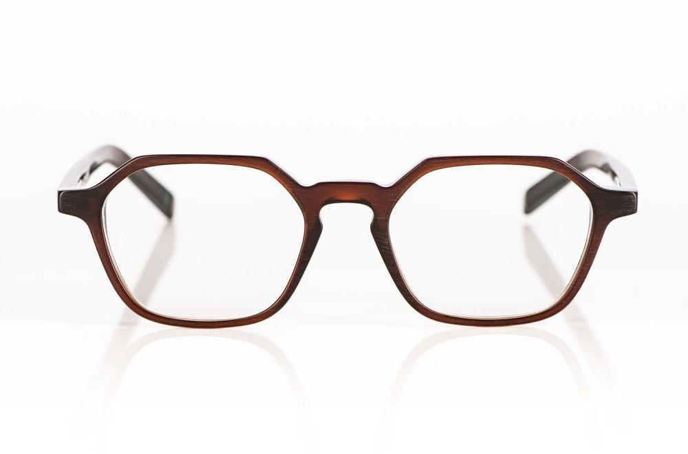 Oscar Magnuson – braune eckige Acetat Brille - KITSCHENBERG Brillen