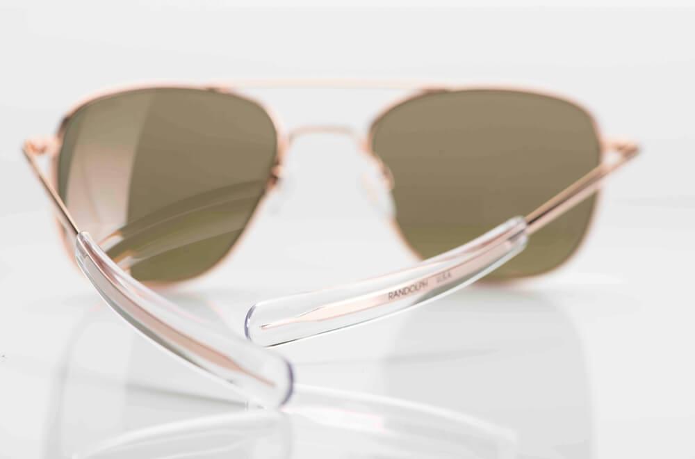 Randolph – Sonnenbrille – Pilotenbrille Aviator in rose Gold mit braunen Gläsern - USA - KITSCHENBERG Brillen