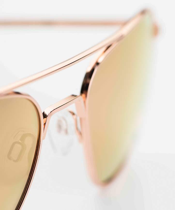 Randolph – Sonnenbrille – Aviator Pilotenbrille aus den USA mit rose verspiegelten Gläsern - KITSCHENBERG Brillen
