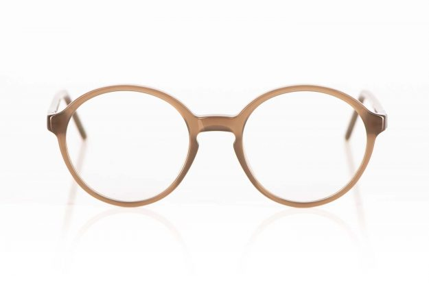 Reiz – schlichte runde Acetatbrille aus taube transparentem Kunststoff - KITSCHENBERG Brillen
