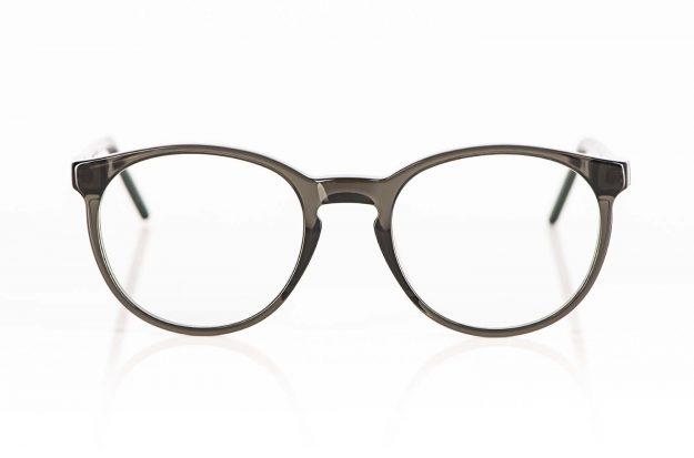 Reiz – graue Acetatbrille mit Schlüsselloch Steg - KITSCHENBERG Brillen