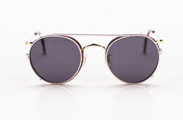 Savile Row- Algha – Pantobrille aus Golddublee mit Sonnenclip gefertigt in England - KITSCHENBERG Brillen