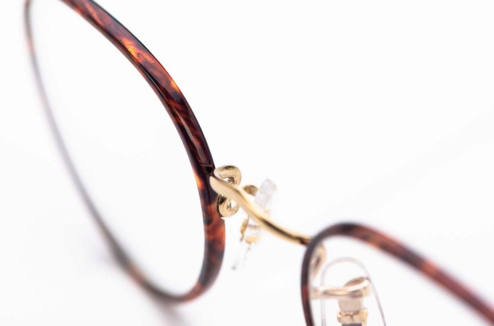 Savile Row- Algha – runde Panto Brille aus Golddublee mit chestnut Windsorring - KITSCHENBERG Brillen