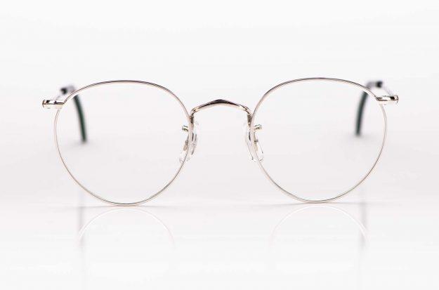 Savile Row- Algha – silberne Pantobrille mit tortoise farbigem Acetat Windsorring - KITSCHENBERG Brillen