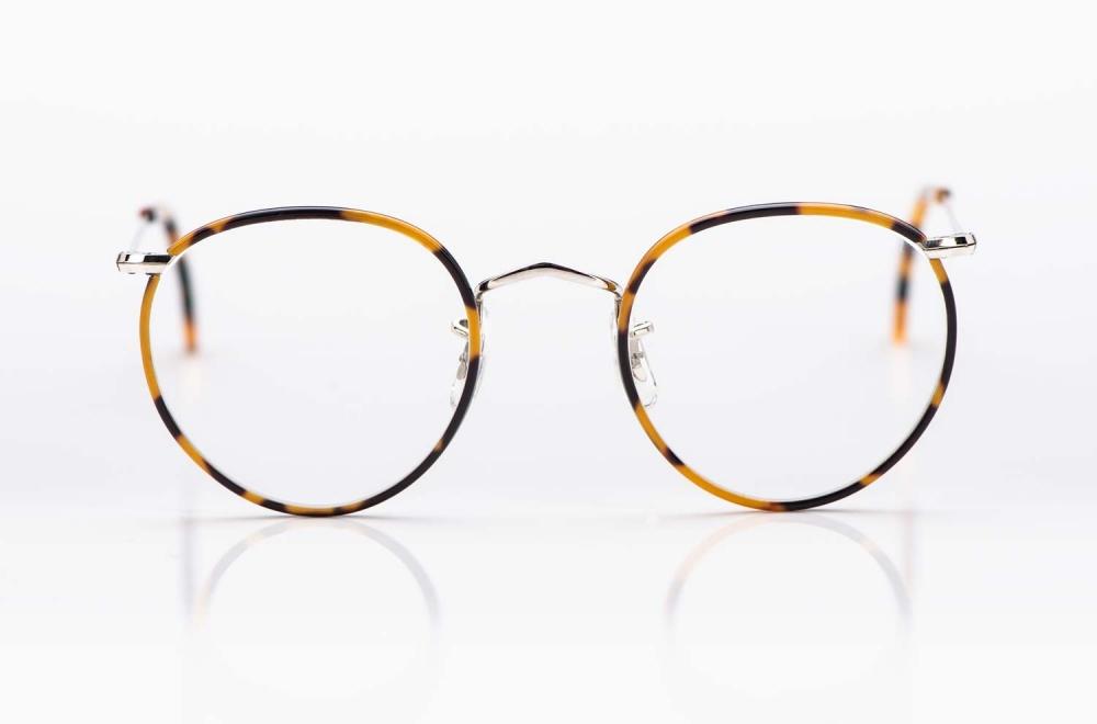 Savile Row- Algha – Panto Brille Metall Brille aus Golddublee mit tortoise gesprenkeltem Acetat Windsorring - KITSCHENBERG Brillen