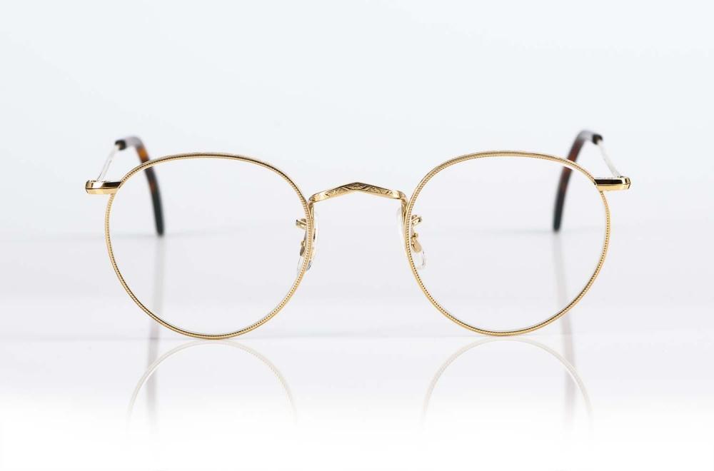 Savile Row – Panto Brille aus original Golddouble mit feiner Ziselierung made in London - KITSCHENBERG Brillen