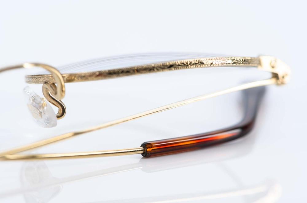 Savile Row – fein ziselierte goldene Panto Brille aus Golddouble produziert in England - KITSCHENBERG Brillen