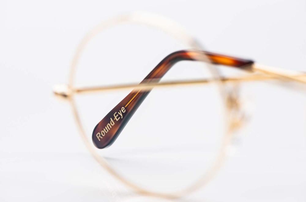 Savile Row- Algha – Runde Metall Brille aus Golddublee im John Lennon Stil - KITSCHENBERG Brillen