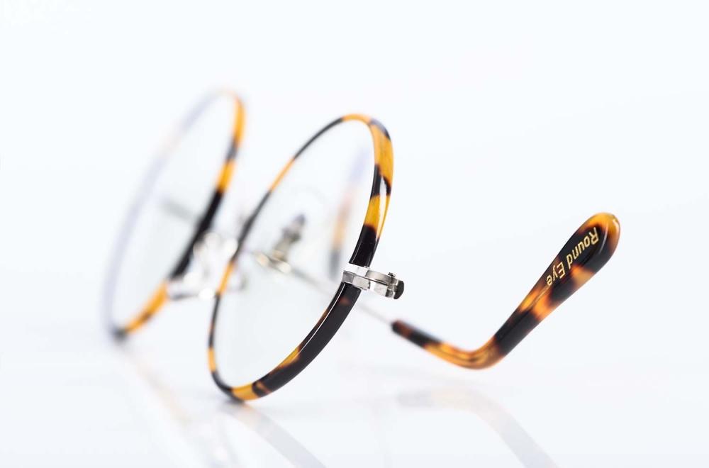Savile Row – nostalgische runde Brille aus rhodiniertem Golddouble mit tortoise farbigem Windsorring gefertigt in London - KITSCHENBERG Brillen