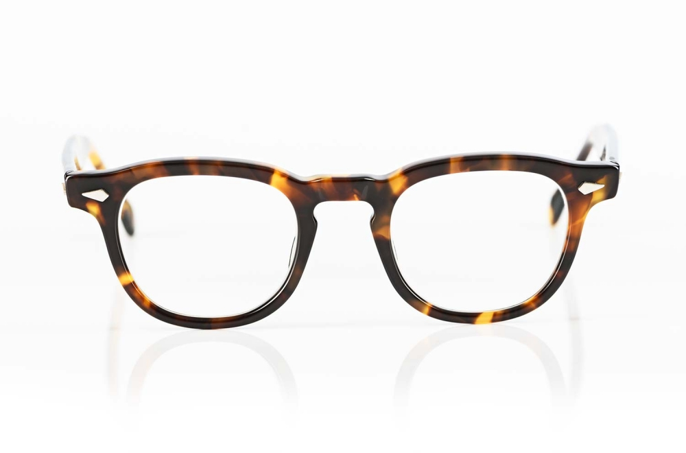 TVR – True Vintage Revival – klassische havannafarbige Acetatbrille handgefertigt mit genieteten Scharnieren produziert in Japan - KITSCHENBERG Brillen