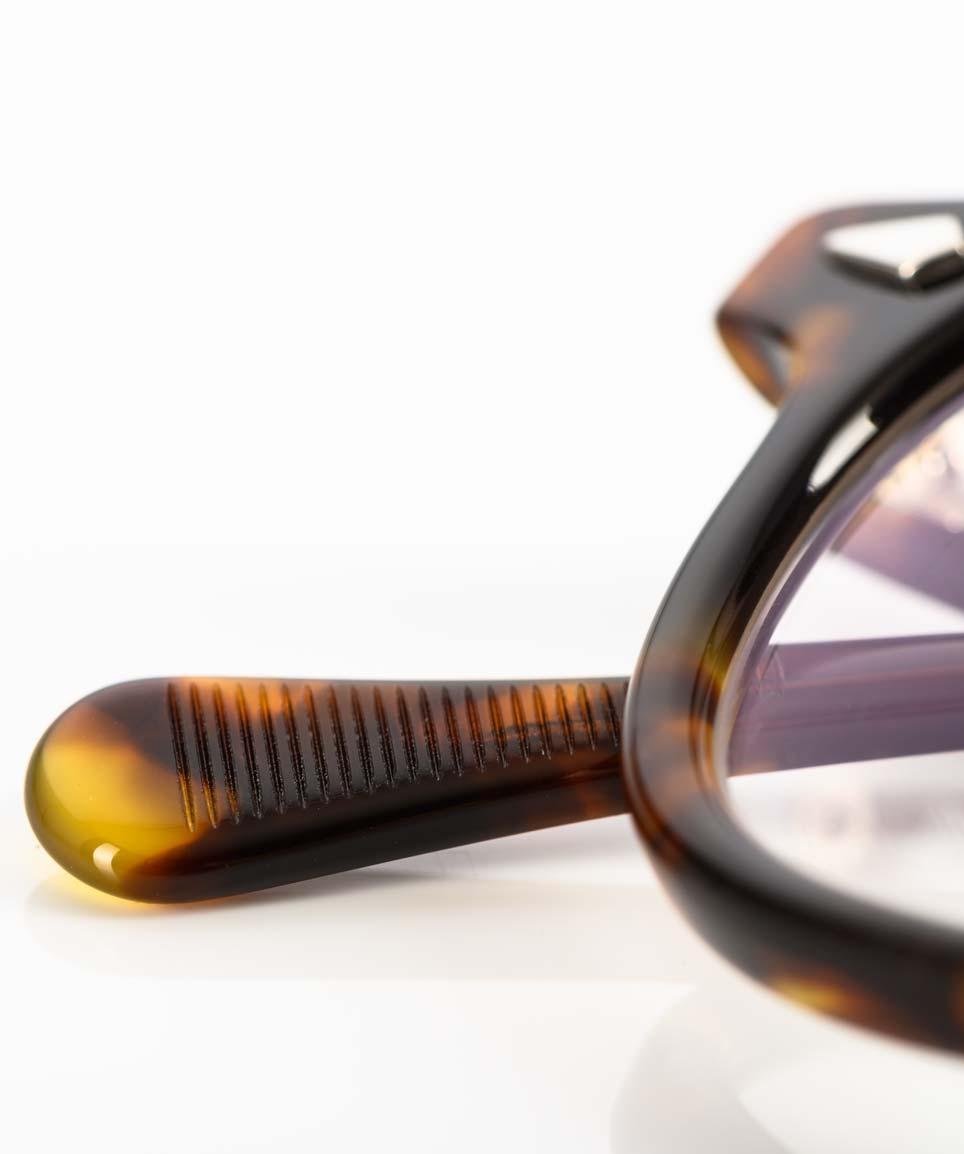 TVR – True Vintage Revival – Schildpatt Imitat Acetatbrille in Havanna handgefertigt in Japan - KITSCHENBERG Brillen