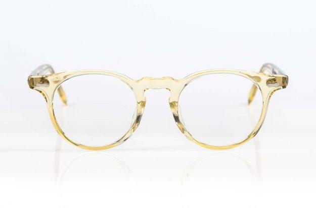 TVR – True Vintage Revival – in Japan handgefertigte Vintage Brille in champagnerfarbigem Acetat - KITSCHENBERG Brillen