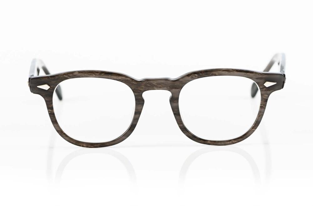 TVR – True Vintage Revival – dunkelgraue klassische Acetatbrille 100% handgefertigt in Japan - KITSCHENBERG Brillen