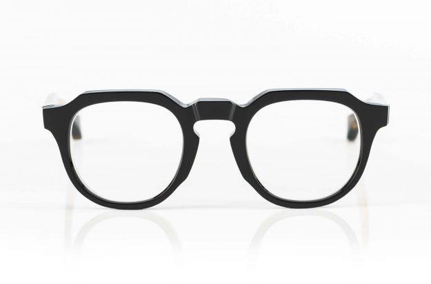 TVR – True Vintage Revival – Panto Brille aus dickem schwarzem Kunststoff in Japan von Hand produziert - KITSCHENBERG Brillen