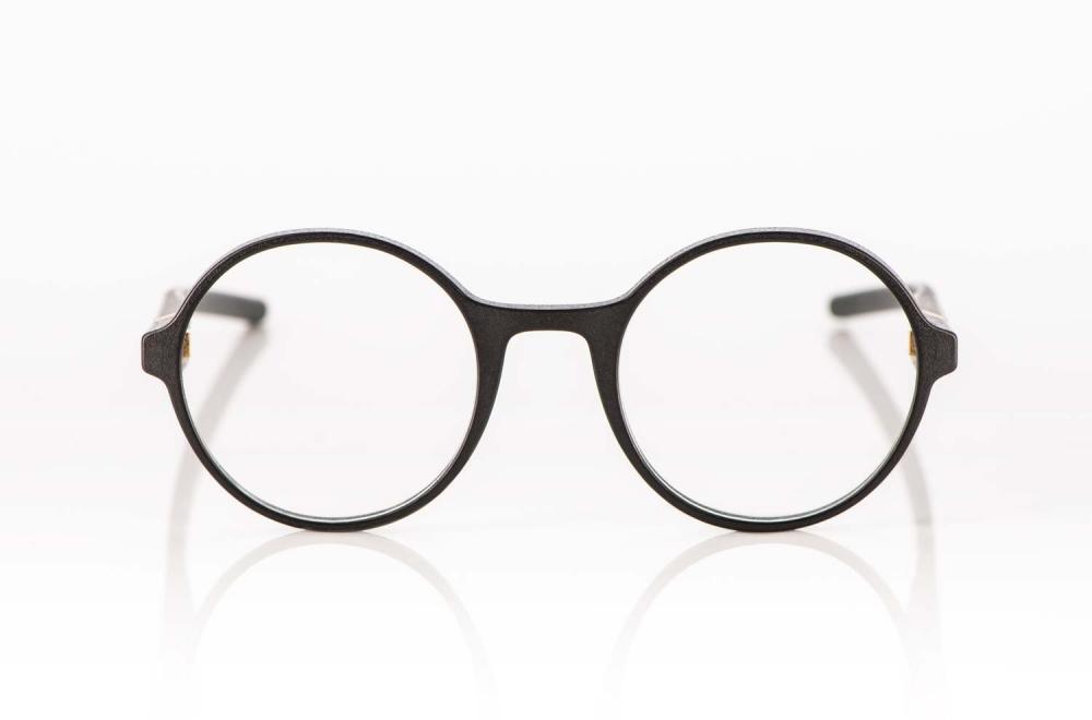 Voyou – schwarze 3D gedruckte runde Brille - KITSCHENBERG Brillen