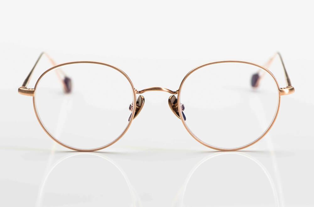 Ahlem – schlichte sehr feine runde Metallbrille in rosegold - KITSCHENBERG Brillen