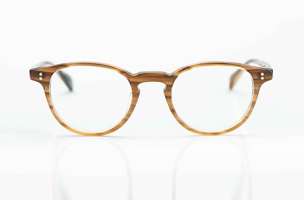 Hamburg Eyewear – Panto Brille aus hellbraunem Kunststoff mit Nieten – KITSCHENBERG Brillen