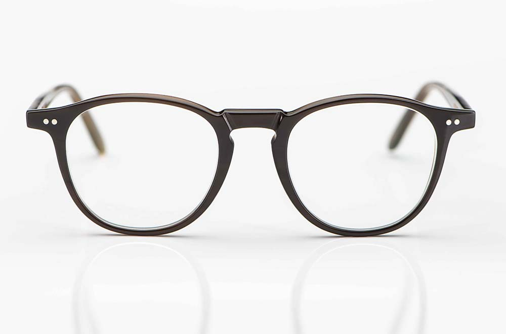 Kitschenberg Horn – runde Büffelhorn Brille in braun mit genieteten Scharnieren – KITSCHENBERG Brillen