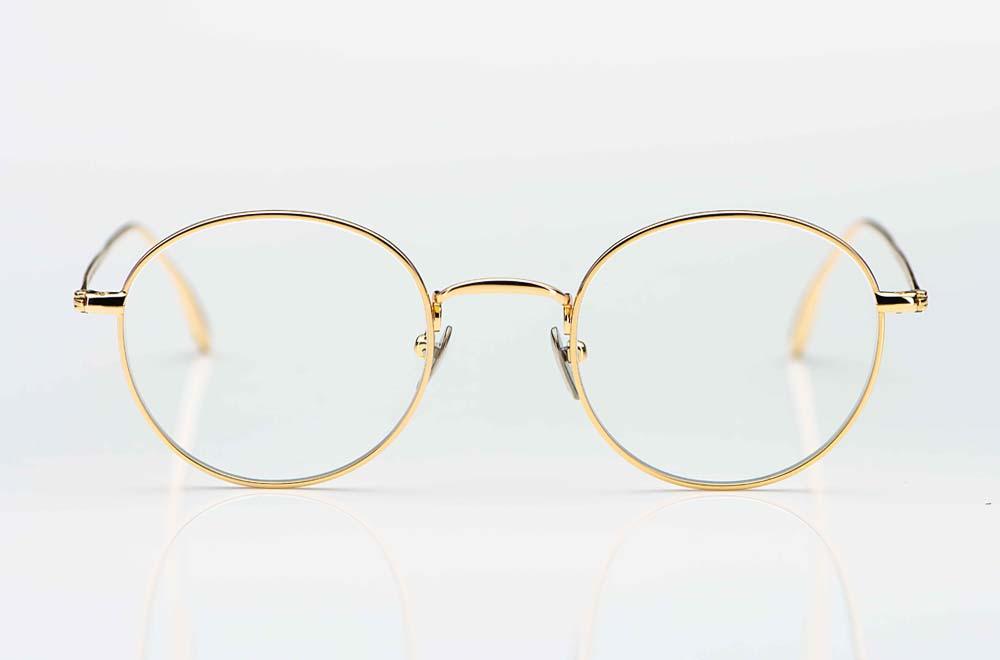 Massada – filigrane runde Titanbrille in gold - KITSCHENBERG Brillen