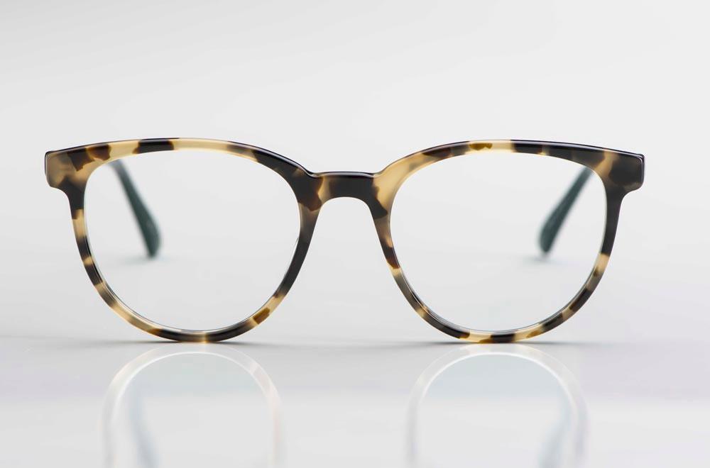 Masunaga – stark gesprenkelte braun schwarze Acetat Brille aus Japan - KITSCHENBERG Brillen