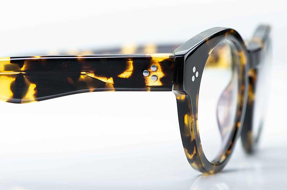 Moscot – breitrandige, runde Kunststoff Brille mit 3-Punkt Nieten in Schildpatt Optik - KITSCHENBERG Brillen