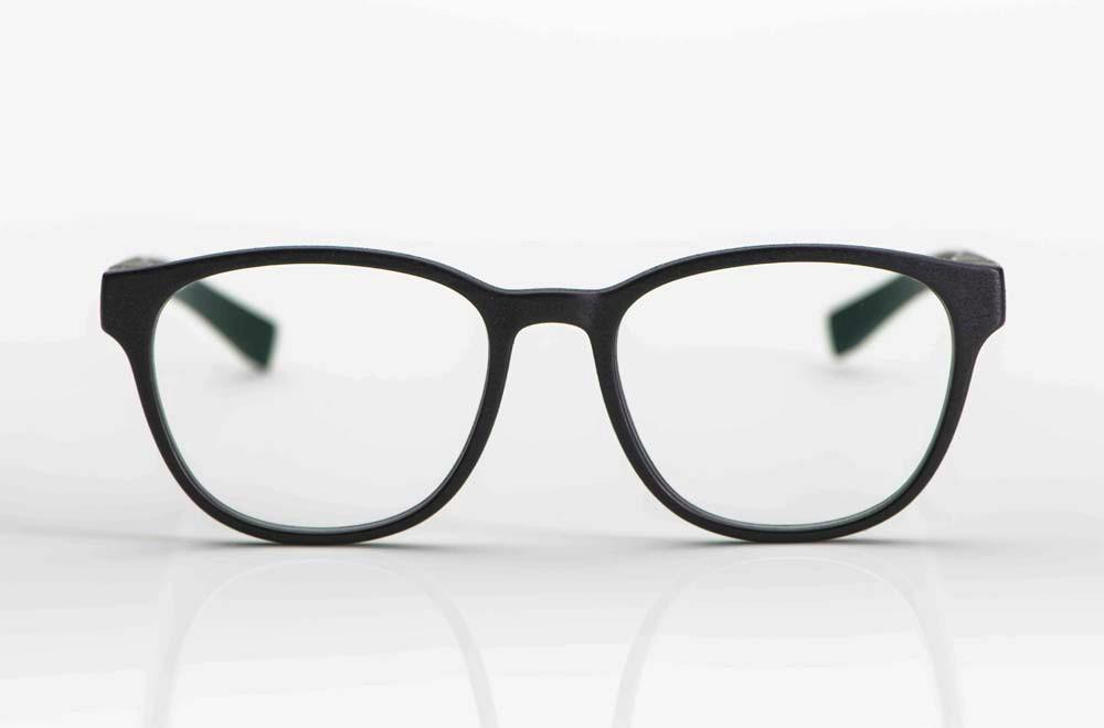 Mykita Mylon– matt schwarze 3-D gedruckte Brille - KITSCHENBERG Brillen