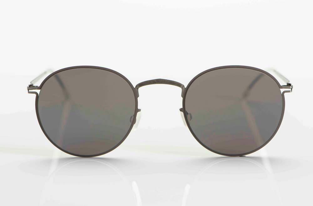 Mykita – Sonnenbrille – filigrane Panto Brille aus grauem Edelstahl - KITSCHENBERG Brillen